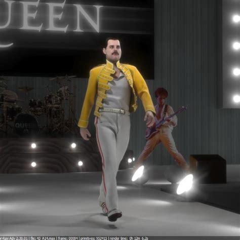 3d Model Freddie Mercury 16 by Stephan Plotnicov - 3D Artist