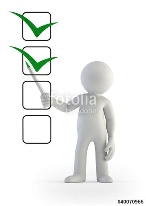 3d small people   checklist  Fotos de archivo e imágenes ...