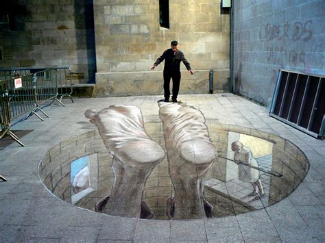 3D Street Art: Eduardo Relero's Amazing Optical Illusions ...