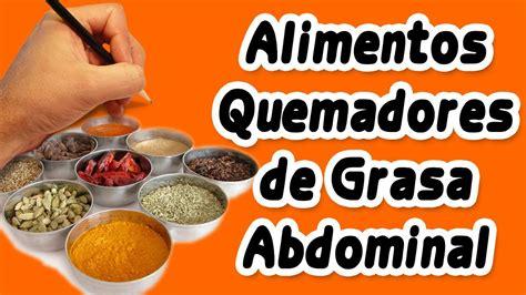 4 Alimentos Para Reducir Grasa Abdominal