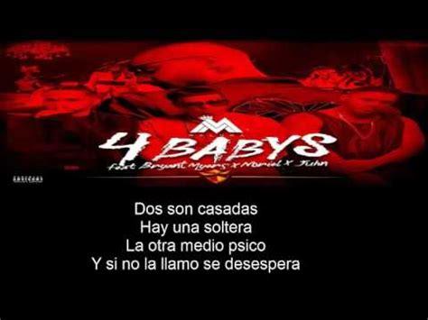 4 Babys Maluma  LETRA  Ft Bryant Myers, Noriel, Juhn El ...