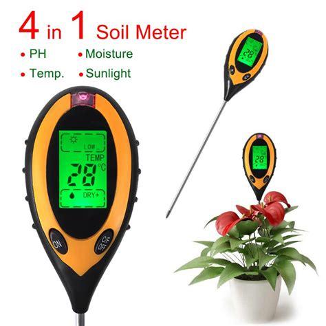 4 In 1 Digital pH Medidor de Humedad del Suelo La luz del ...