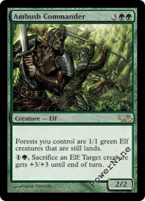 4 PreCon FOIL Ambush Commander   Duel Decks: Elves vs ...