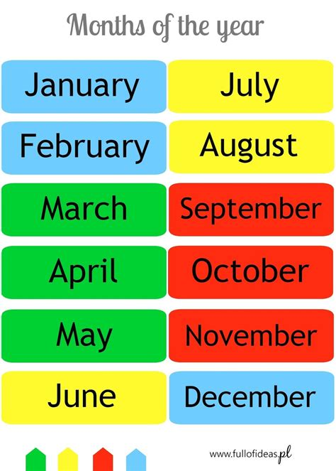 4 seasons, 12 months ⋆ Head Full of Ideas