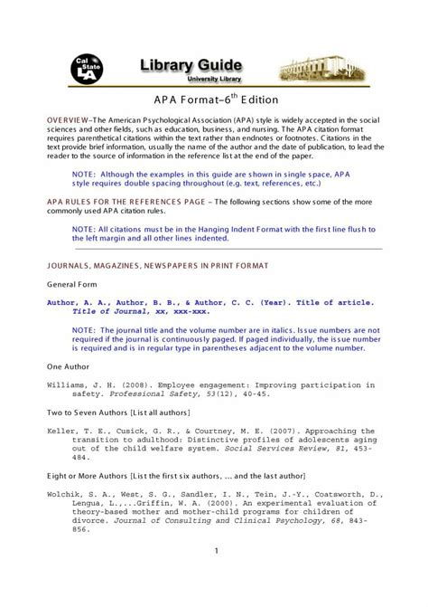 40+ APA Format / Style Templates (in Word & PDF ...