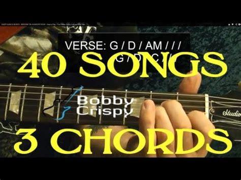 40 EASY EASY Rock Songs, THREE Chords! - Guitar Lesson ...