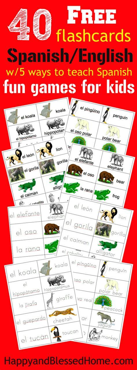 40 Free Spanish English Flashcards of Jungle Animals and 5 ...