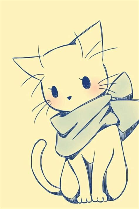 40 Simple Cat drawing Examples anyone Can Try