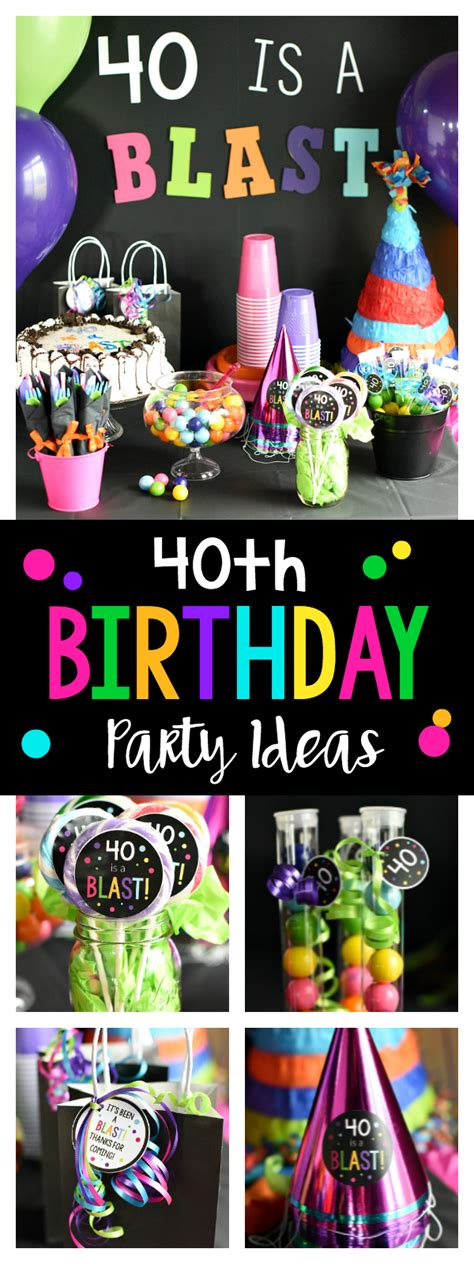 40th Birthday Party 40 is a Blast! – Fun Squared