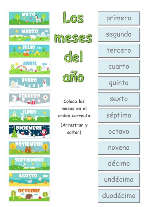 43 best Meses del ano images on Pinterest | Learn spanish ...