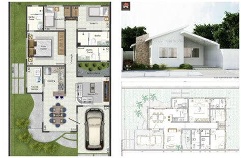 45 Plantas de casas: modernas e lindas - com projeto 3d grátis