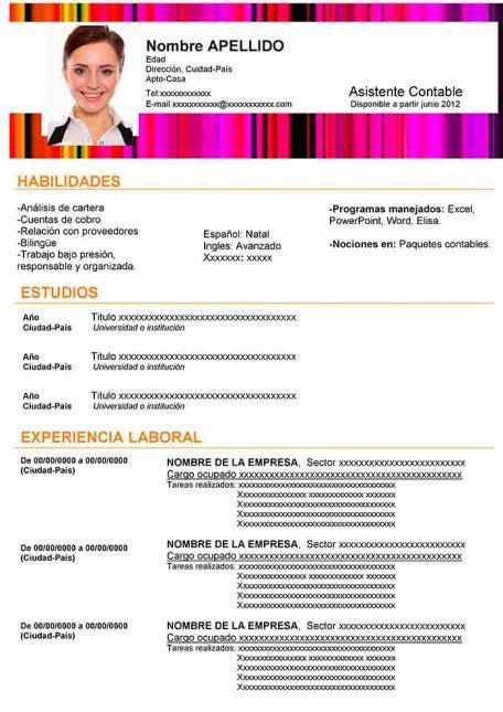 47 Modelos de curriculum vitae para descargar - Taringa!