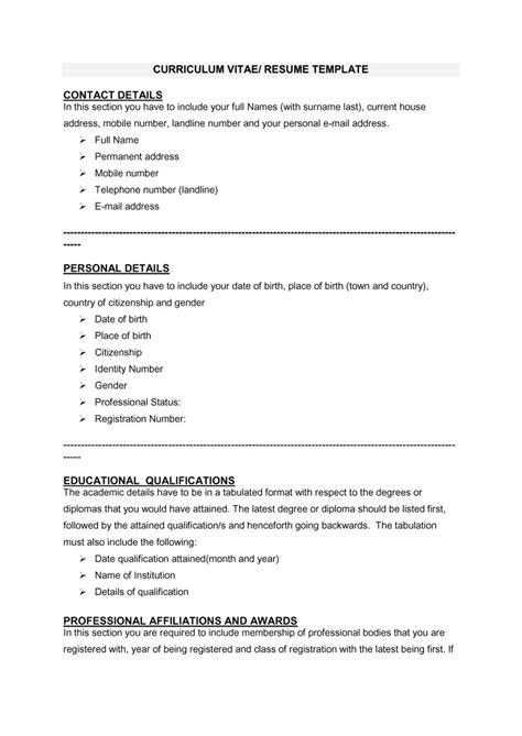 48 Great Curriculum Vitae Templates & Examples - Template Lab