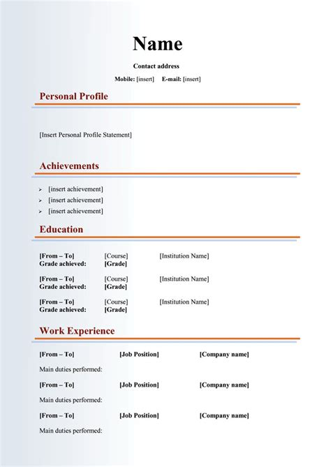 48 Great Curriculum Vitae Templates & Examples   Template Lab