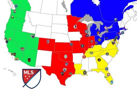 48 Team MLS in Map Form.... : MLS