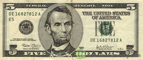 5 American Dollars series 2000   Exchange yours for cash today