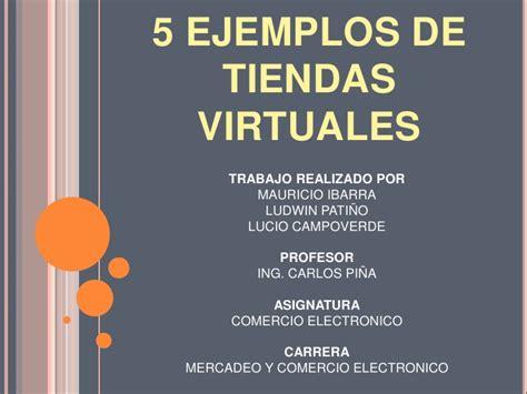 5 Ejemplos De Tiendas Virtuales