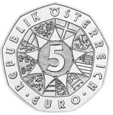5 Euros plata para el 60 Aniversario del Ejército Federal ...