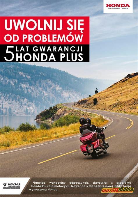 5-letnia gwarancja Honda Plus dla motocykli