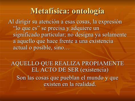 5 Metafisica Ontologia 1