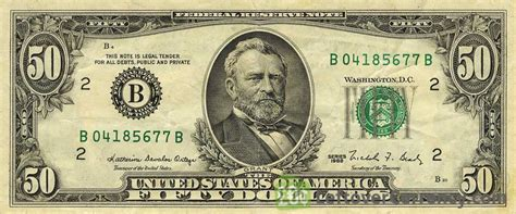 50 American Dollars series 1963   Exchange yours for cash ...