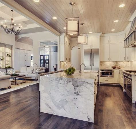 50 Examples Of Marble Kitchen Speak About High-End Tastes
