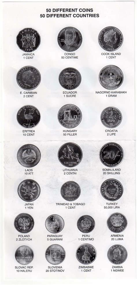 50 Monedas De 50 Paises Diferentes, Nuevas Con ...