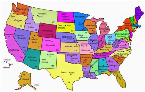 50 States Printable Out Maps | Let's Explore All US Map ...