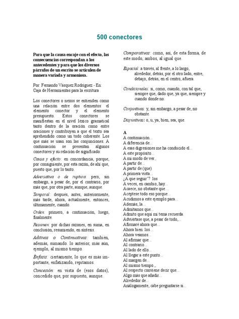 500 Conectores gramaticales