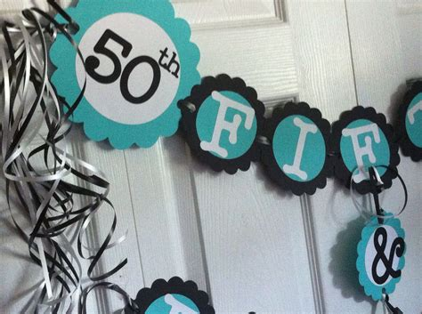 50th Birthday Decorations Party Banner 50 & Fabulous