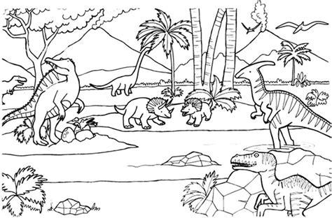58 dinosaurios para colorear y pintar: Descargar e imprimir
