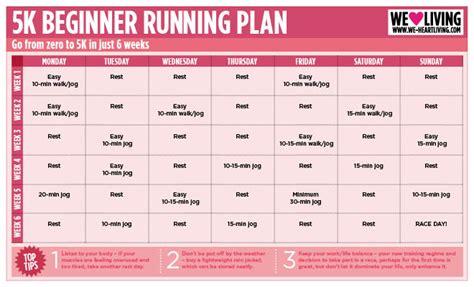 5K running plan - We Heart Living