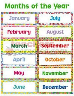 6 Best Images of Free Printable Months Of The Year Chart ...
