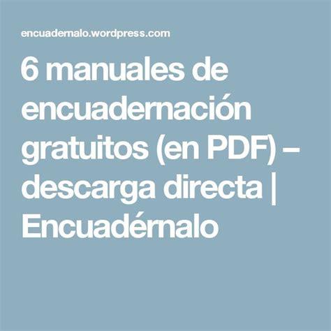6 manuales de encuadernación gratuitos  en PDF  – descarga ...