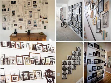 60 Brillantes ideas para decorar con fotos familiares