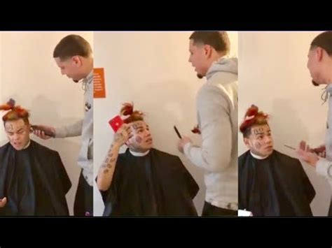 6ix9ine GOES OFF On Barber For Messing Up His Rainbow Hair ...