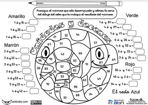 7 FICHAS DE UNIDADES, DECENAS Y DECOMPOSICIÓN | EDUCACIÓN ...