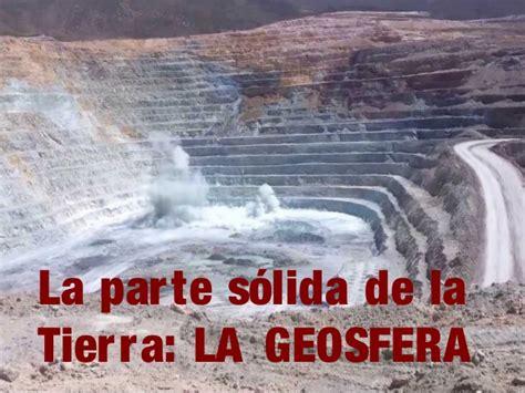 7. la Geosfera. Rocas y minerales.