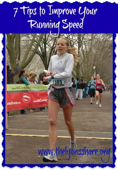 7 Tips to Improve your Running Speed   The Lyons  Share ...
