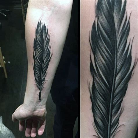 70 Feather Tattoo Designs For Men - Masculine Ink Ideas