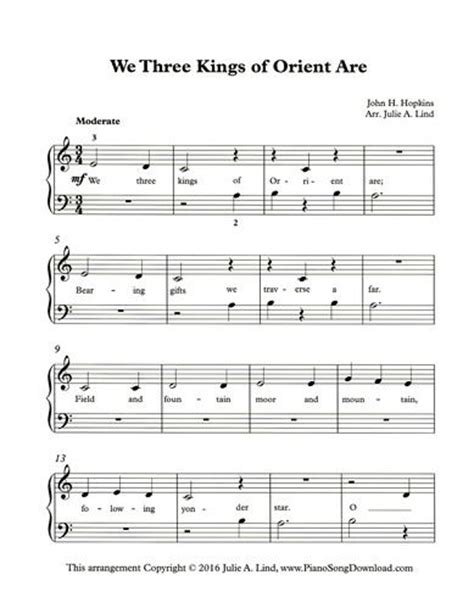 72 best Christmas Piano Sheet Music printable for all ages ...