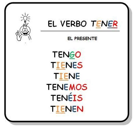 8 best El verbo tener images on Pinterest | Spanish ...