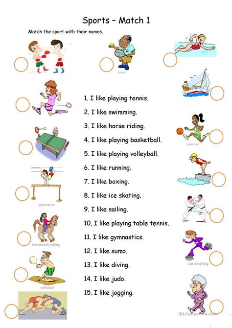 8 FREE ESL swimming worksheets