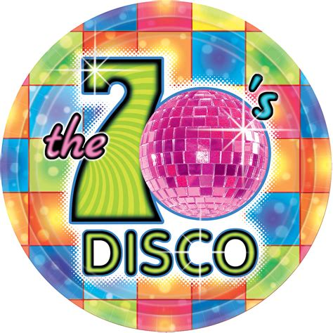 8 Plastikteller 70er-Jahre Disco: Deko, und günstige ...