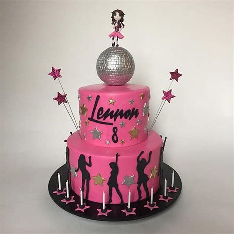 80s Disco Dance Party Cake, with disco ball and dancing ...