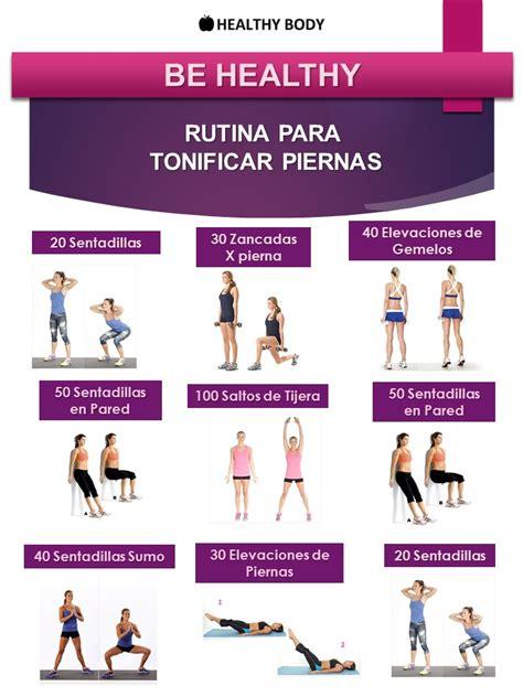 9 EJERCICIOS PARA TONIFICAR PIERNAS - Estética Healthy Body