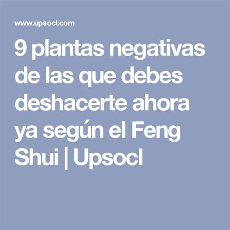 9 plantas negativas de las que debes deshacerte ahora ya ...