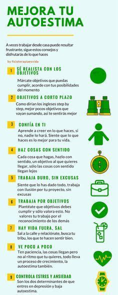 9 puntos para mejorar la autoestima. || #infografias # ...