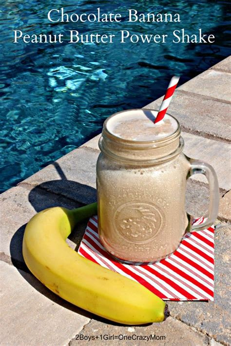 A Chocolate Banana Peanut Butter Power Shake makes # ...