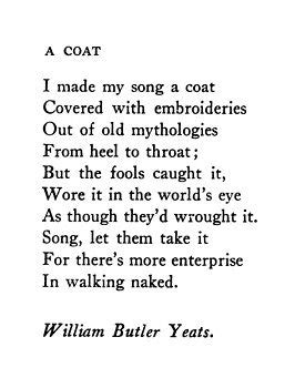 A Coat - William Butler Yeats | Quotes | Poesía, Poemas y ...